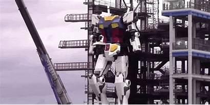 Gundam Tall Robot Foot Engineers Take Japan
