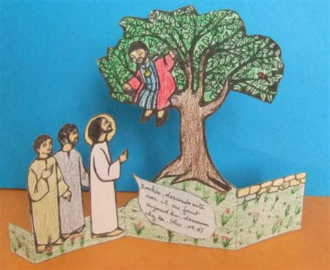 knutselwerkje zacheus bible craft zacchaeus bible