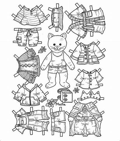 Doll Paper Template Printable Pages Dolls Coloring