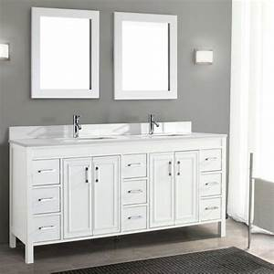 Corniche 75 U201d White Double Sink Vanity By Studio Bathe