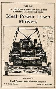 Ideal Power Gas Engine Lawn Mowers Reo Olds Hit Miss Hit