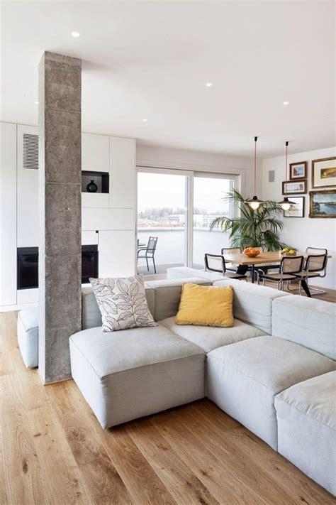 cuisine vivre intérieur moderne et inspirant avec des piliers en béton 6 appart vie