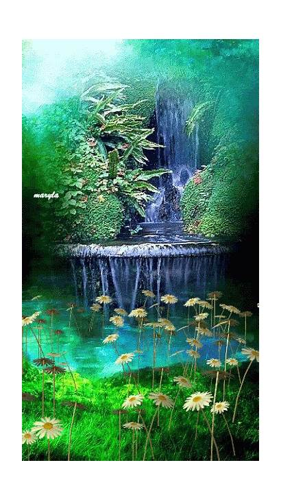 Animated Nature Gifs Water Bing Trees S854