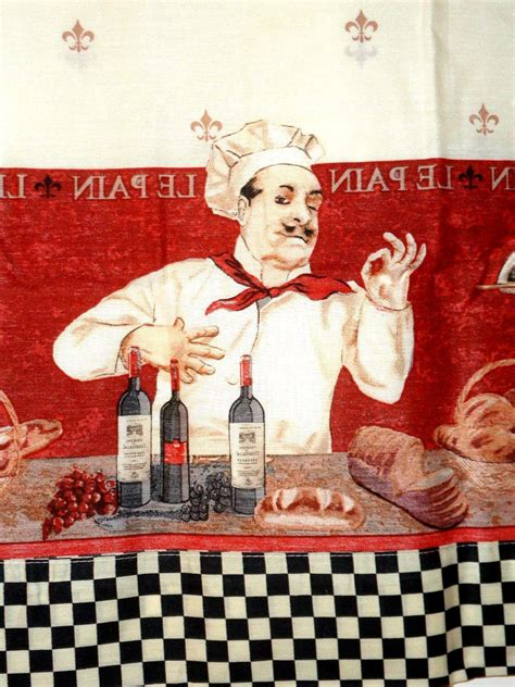 italian chef kitchen curtains set valance tiers