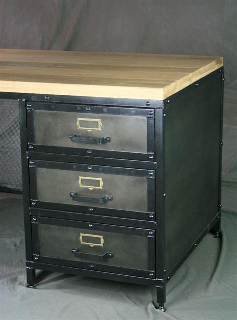 modern desk with drawers combine 9 industrial furniture modern industrial desk