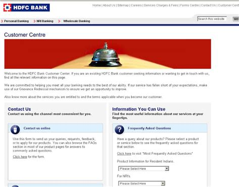 Hdfc Billdesk Customer Care by Hdfc Bank Customer Care Numbers At Www Hdfcbank