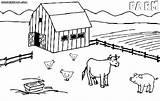 Farm Coloring Pages Colorings Building Farm11 sketch template