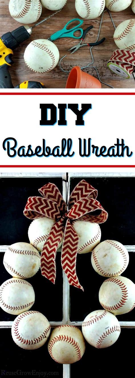 diy baseball wreath upcycled   balls reuse grow enjoy