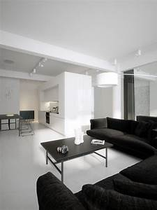 Luxury Minimalist Loft Designs In Black And White