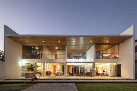 rectangular shaped contemporary house exuding transparence brazil home building plans