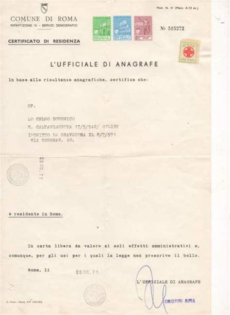 iscrizione di commercio costo certificato anagrafico comune roma certificati e pratiche