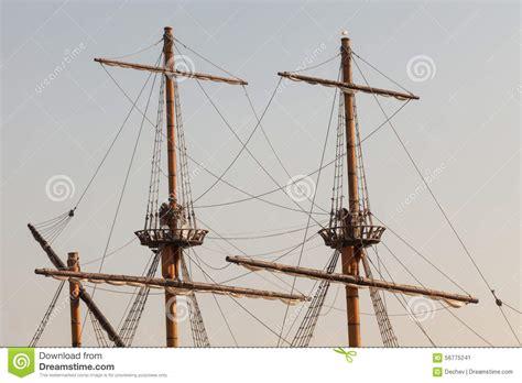 masts   pirate ship stock photo image