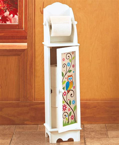 decorative toilet paper storage decorative colorful owl toilet paper roll storage cabinet 6508