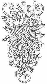 Tattoo Knitting Embroidery Yarn Crochet Designs Tattoos Urbanthreads Sleeve Urban Threads Unique Patterns Paper Coloring Awesome Ball Pattern Pages Sewing sketch template