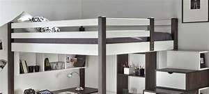 Lit Mezzanine Ado : lit en hauteur pour ado maison design ~ Teatrodelosmanantiales.com Idées de Décoration