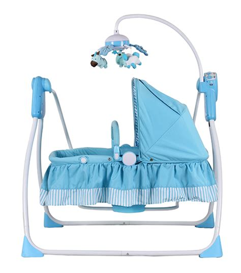 automatic baby blue rocking chair buy baby electronic