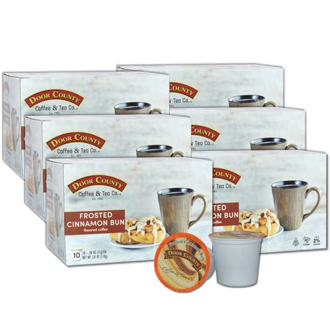 20% off all coffee, tea, cocoa & coffee gifts for valentines day. Door County Coffee Frosted Cinnamon Buns Flavored Specialty Single-Serve Coffee Pods, Medium ...