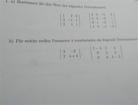 determinanten berechnen mathelounge