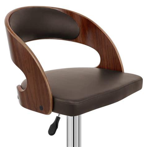 chaise de bar chaise de bar bois chrome noyer monde du tabouret