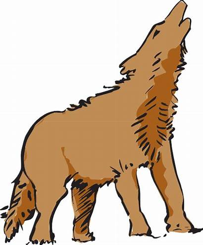 Wolf Clipart Clip Howling Coyote Animated Transparent