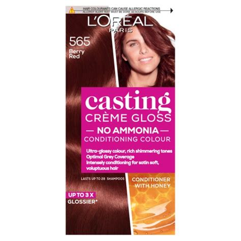 A decade ago, permanent chemical hair colors appeared on the indian market front. L'oreal Casting Creme Gloss Berry Red 565 Hair Dye - Tesco ...