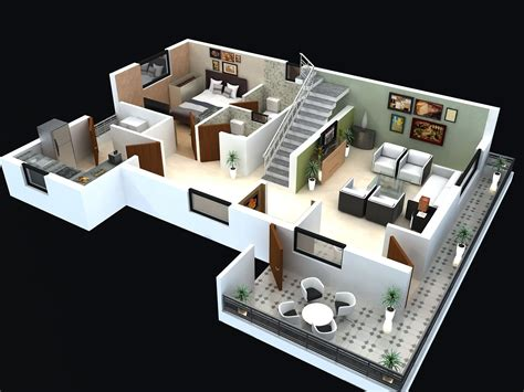 Home Design 3d Stairs by Pin By Apnaghar On 3d Floor Plan House Plans 2 Storey