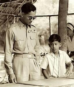 King Bhumibol and Maha Vajiralongkorn, Crown Prince of ...