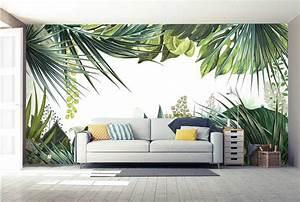 Papier Peint Deco : papier peint trompe l il jungle tropicale nouveaut ~ Voncanada.com Idées de Décoration