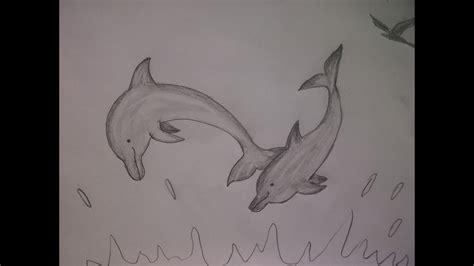 delfine malen wie zeichnet man delfine mit dem bleistift