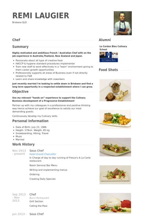 Demi Chef Resume by Chef Resume Sles Haadyaooverbayresort