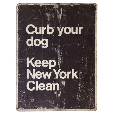 Curb Your Dog Keep New York Clean Sign  Air Designs