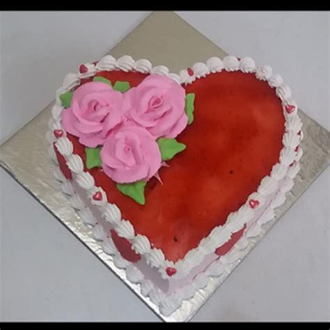 order  strawberry cake heart shaped  yummycake