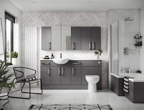 heated floor tile grey bathroom ideas for a chic and sophisticated look