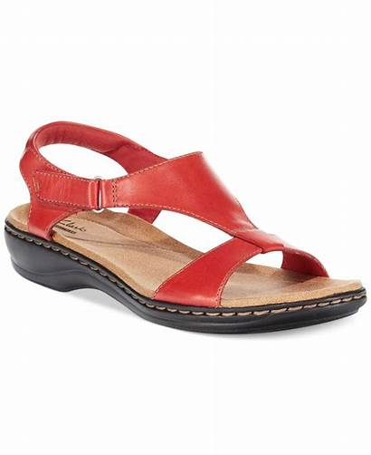 Clarks Sandals Flat Leisa Foliage Womens Shoes