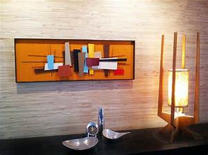 mid century modern abstract wall art sculpture painting retro With mid century modern wall art
