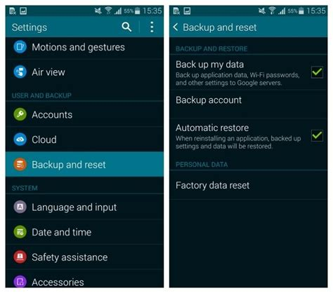 restore phone from how to restore android phone from backup