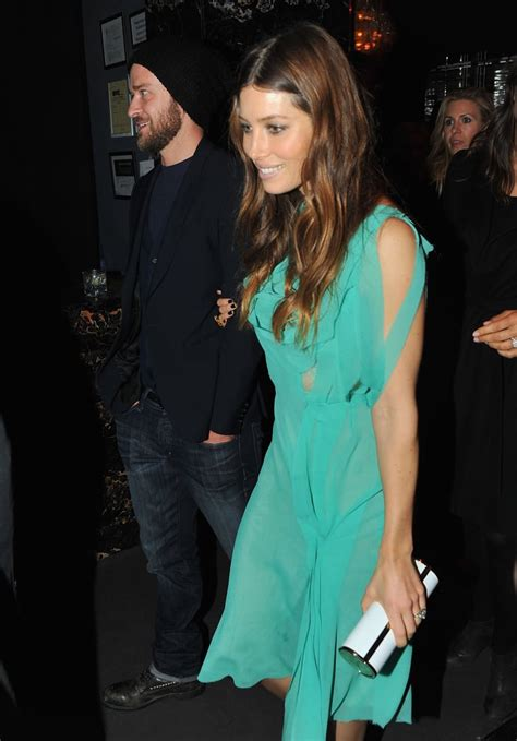 Justin Timberlake and Jessica Biel at Playing For Keeps ...
