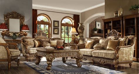 Hd 610 Homey Design Upholstery Living Room Set Victorian
