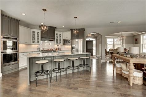 transitional gray  white kitchen interiors  color