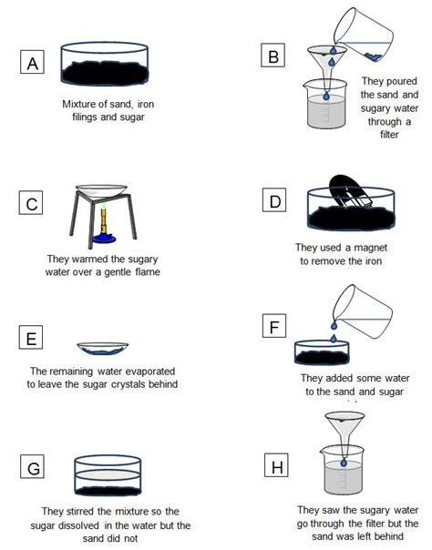 separating mixture worksheet separating substances step by step 1 worksheet edplace