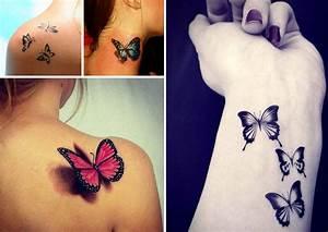 Tatouage Papillon Signification : tatouage femme papillon exemple tatouage femme ~ Melissatoandfro.com Idées de Décoration
