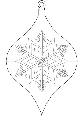 christmas ornament coloring page  printable coloring
