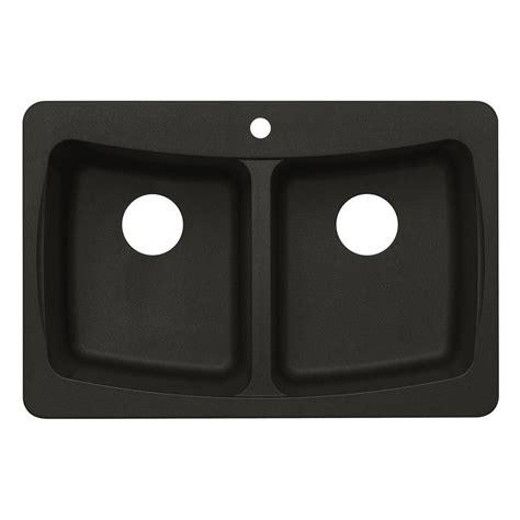 black kitchen sinks at home depot dual mount granite 33 in 3 bowl kitchen sink 9302