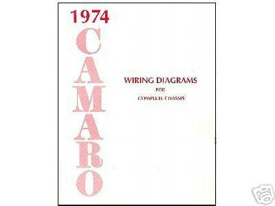 Camaro Wiring Diagram Manual Ebay
