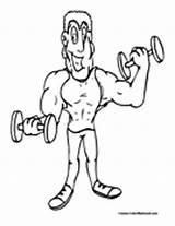 Weightlifting Coloring Weights Colormegood sketch template