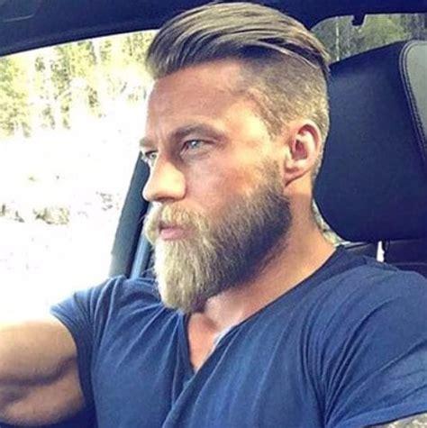 undercut  beard styles   vintage modern
