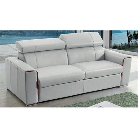 canapé lit rapido en cuir avec matelas 18 cm verysofa renoir