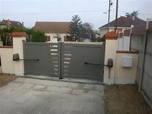 Portail Alu En Kit : evreux portail battant alu de villa semi plein thermolaqu ~ Edinachiropracticcenter.com Idées de Décoration