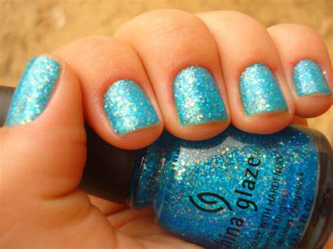 Blue, Blue Glitter, China Glaze, Glitter, Nail Polish