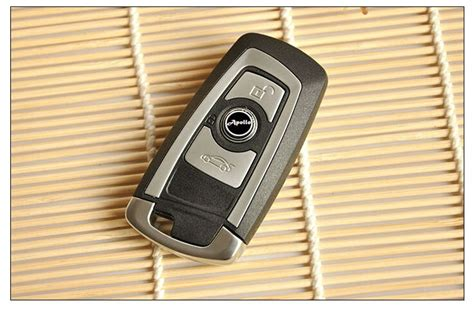 buttons replacement smart remote key shell case   bmw    series  insert key blade